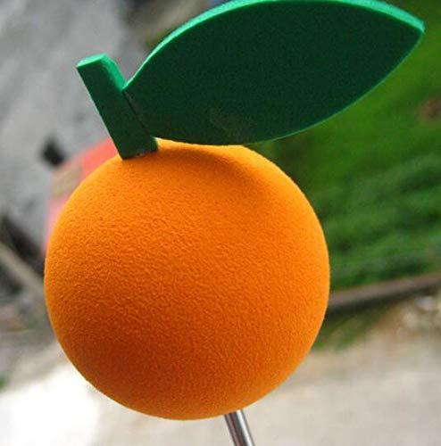 Minyine Orange Shape Car Aerial Topper Antenna Ball Car Decoration for Truck-Orange