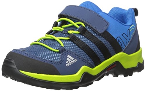 adidas outdoor AX2 CF Hiking Shoe (Little Kid/Big Kid), Shock Blue/Black/Semi Solar Slime, 12.5 M US Little Kid