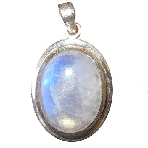 SatinCrystals Moonstone White Pendant 1.3