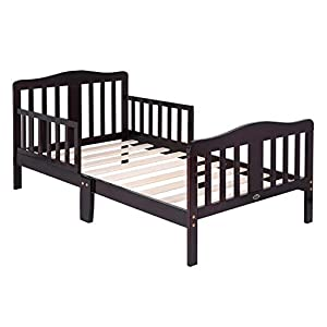 Bonnlo Toddler Bed for Boys & Girls, Dark Cherry 12