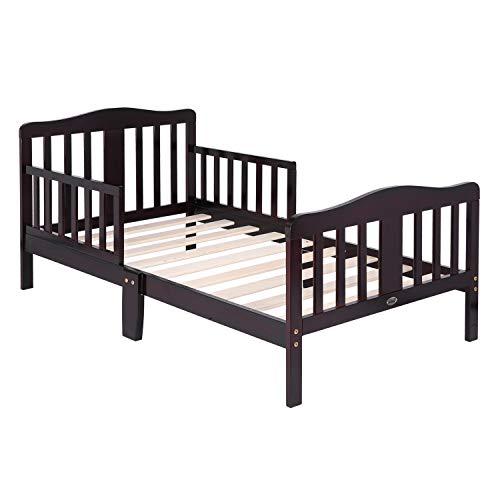 Bonnlo Toddler Bed for Boys Girls, Dark Cherry