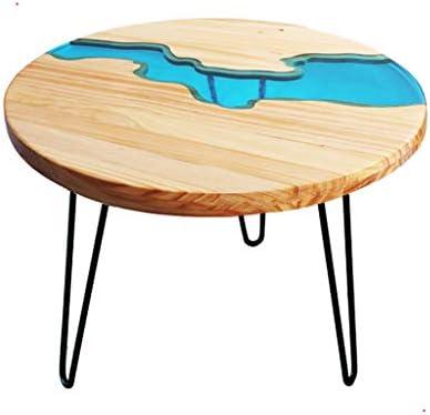 Online Ay yu kleine tafel eettafel salontafel dual us-massief hout Ecological Lake kleine salontafel ronde tafel eenvoudig, helder achtervenster lo 600 * 600 * 550 Rhine  FnwDIHa