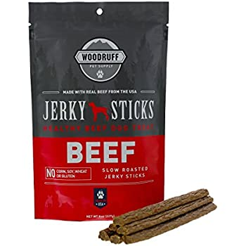 Woodruff Pet Supply Dog Treats Beef Jerky Sticks | Healthy