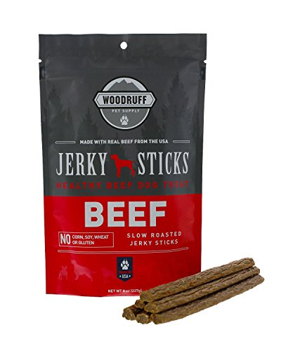 Woodruff Pet Supply Dog Beef Jerky Sticks | Healthy Natural Gourmet Dog Jerky...