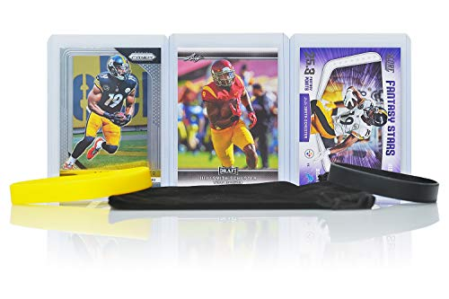 Juju Smith-Schuster Football Cards (3) Assorted Bundle - Pittsburgh Steelers Trading Card Gift Set