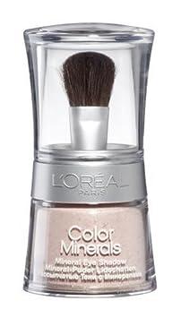 L'Oréal Paris Color Minerals Eyeshadow, 02 Nacre Rosé - Puder Lidschatten aus natürlichen Mineralien für ein schimmerndes, langanhaltendes Ergebnis - 1er Pack (1 x 3,5g) L' Oréal Paris 30071803