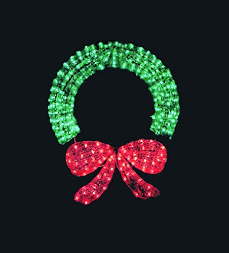 48 Inch Outdoor Lighted Christmas Wreath in US - 8