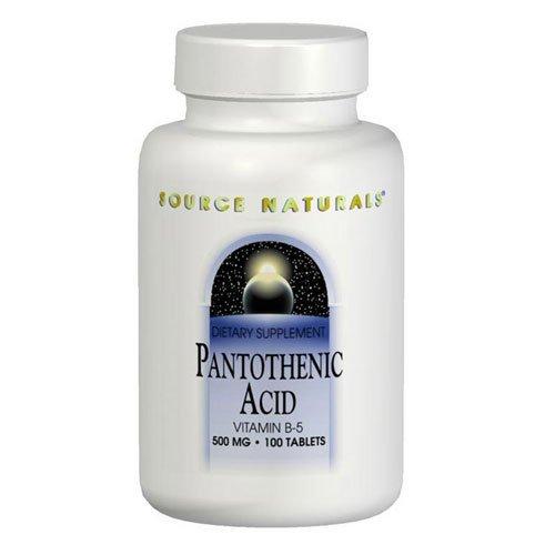 Pantothenic Acid 100mg Source Naturals, Inc. 100 Tabs