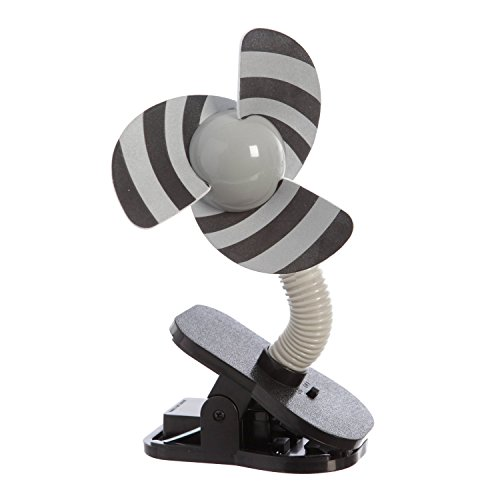 Portable and Easy to Use Clip-On Fan in Silver/Black by Dreambaby
