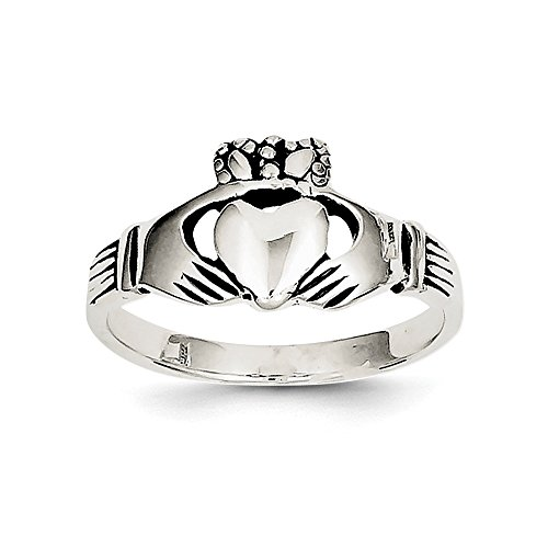 Sterling Silver Antiqued Claddagh Ring Size 8 (Sterling Silver Antiqued Claddagh Ring)