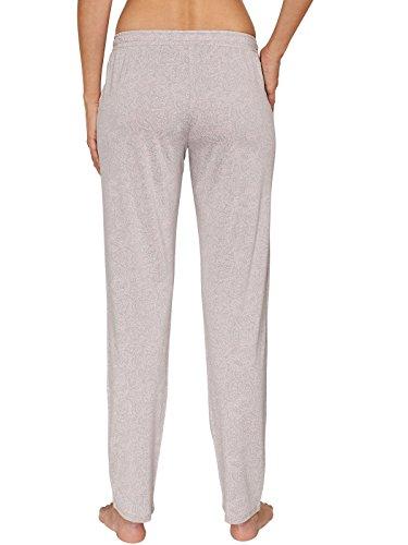 Schiesser donna pantaloni lunghi loungewear Jerseyhose Patterned cotone - Taupe
