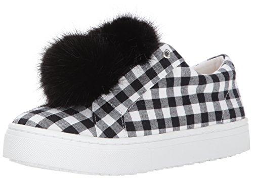 Sam Edelman Women's Leya Sneaker Black/White Gingham Print 10.5 Medium US - Gingham Platforms