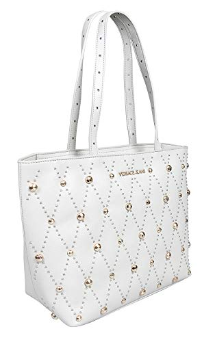 Versace EE1VTBBE1 E807 Light Grey Tote Bag for Womens (Versace Tote)