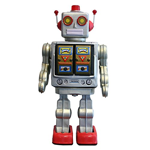 Collectible Retro Tin Robot 12 Inch Metal Battery-Operated Toy from Alexander Taron
