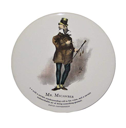 - H&R David Copperfield Mr. Micawber 6 Inch Round Porcelain Tile