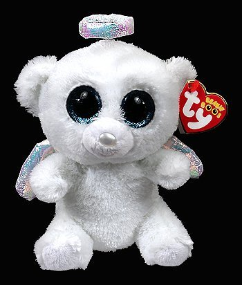 ef4c76b00ab Image Unavailable. Image not available for. Color  Ty Beanie Boos Halo -  Angel Bear ...