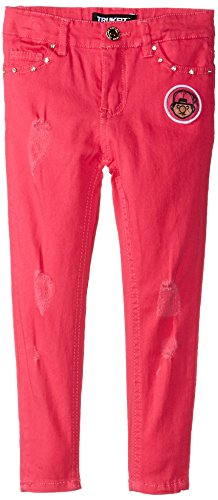 Trukfit Little Girls' Lil Tommy Distressed Denim, Hot