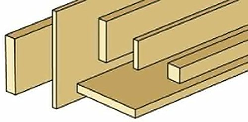 New Miniature Unfinished Strip Wood 1/2 inch x 1 inch -