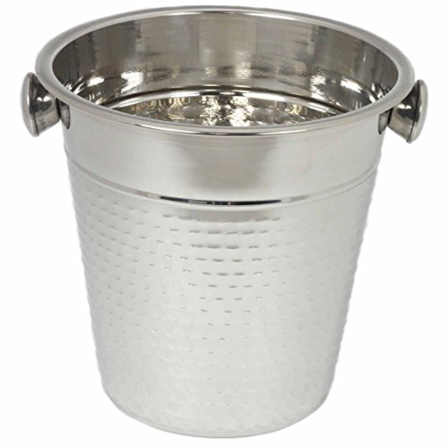 Chef Craft 21994 Hammered Champagne Bucket, Stainless - Bucket Craft