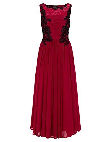 Tee Kleid lang Dynasty Black Ruby Damen ärmellos Cocktail Women'1072531 Rot CH5qv