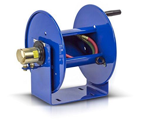 Coxreels 112WTL-1-100 Welding Hand Crank Hose Reel: 1/4 I.D, 100' twin T grade welding hose capacity, less hose,Blue, 200 PSI (Large Capacity Welding Reel)