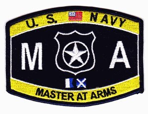 Navy Master Arms (US Navy Master at Arms MA Patch)