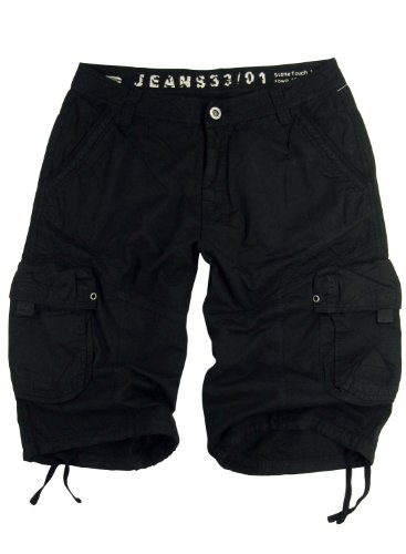 - STONE TOUCH Mens Military-Style Black Cargo Shorts #27s Size 46