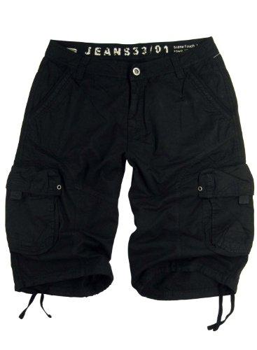 Style Black Short - Mens Military-style Black Cargo Shorts #27s Size 50
