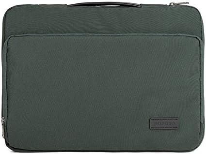 WTYDコンピューターアクセサリー E550 14 / 15.4インチスーツケースベルト付きポータブル防水ポリエステルラップトップハンドバッグ(ブラック) コンピューターに使用 (Color : Green)