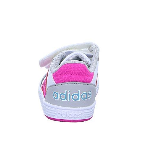 adidas NEO Kinder Sneaker Hoops CMF Inf Freizeitschuh Klettverschluss Weiß Pink Grau