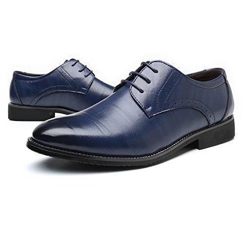 Azul Con Clásicos Oxfords Eu De shoes 43 Forrados Transpirables Acanalados color Zapatos Fang Negocios Pu Hombre Formales Tamaño Cuero Cordones 2018 Hombre Azul 176qnwvB