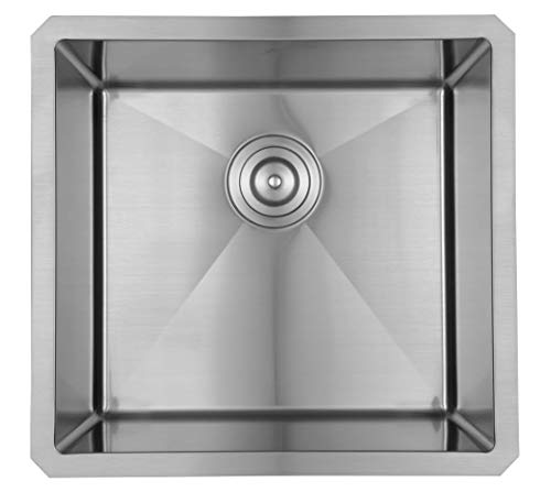 Starstar 20 X 19 Single Bowl Kitchen Sink Undermount 304 Stainless Steel 16 Gauge