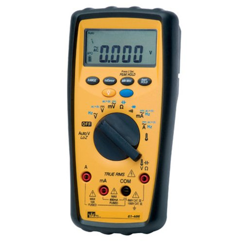 IDEAL 61-486 Commercial Grade Digital Multimeter with Peak Hold, Temperature and (Grade Multimeter)