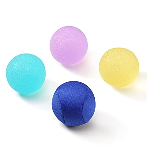 Syncyoo Therapy Hand Exercise Grip Balls Kit Squeeze Stress Relief Balls for Hand,Finger and Body Strengthening Set of 4