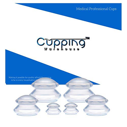 Supreme 6 - (3 Sizes) Professional Medical Silicone Cupping Therapy Set - Therapy Medical