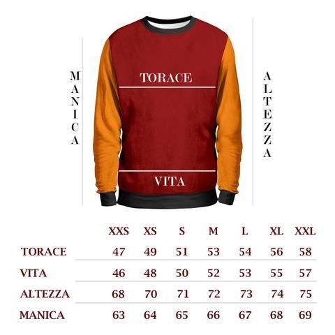 MAGNO BEVO E TIFO ROMA Felpa Uomo - Roma Summae Civitas Sweatshirt Man - Calcio AS Roma 1927 Sport Stadio Olimpico Totti T-Shirt