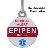 Medical Alert Tag: EpiPen Inside. Double