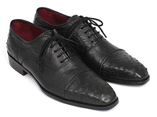 Paul Parkman Men's Genuine Ostrich Captoe Oxfords Shoes Black B07HCRVFQH Shoes Oxfords ea13c6