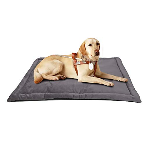 laamei Dog Crate Mat,Dog Kennel Pad Washable Mattress Warm Breathable Cat Bed Comfortable Anti-Slip Dog Bed for Cage Large Mocha 4027 Inch