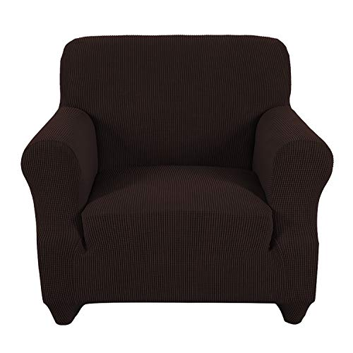 Obstal Stretch Spandex Armchair Couch Slipcover Sofa Covers for Living Room, One Piece Anti-Slip Chair Slipcover with Elastic Bottom, Chair Coverings Furniture Protector for Dogs, Cats, Pets, and Kids ()