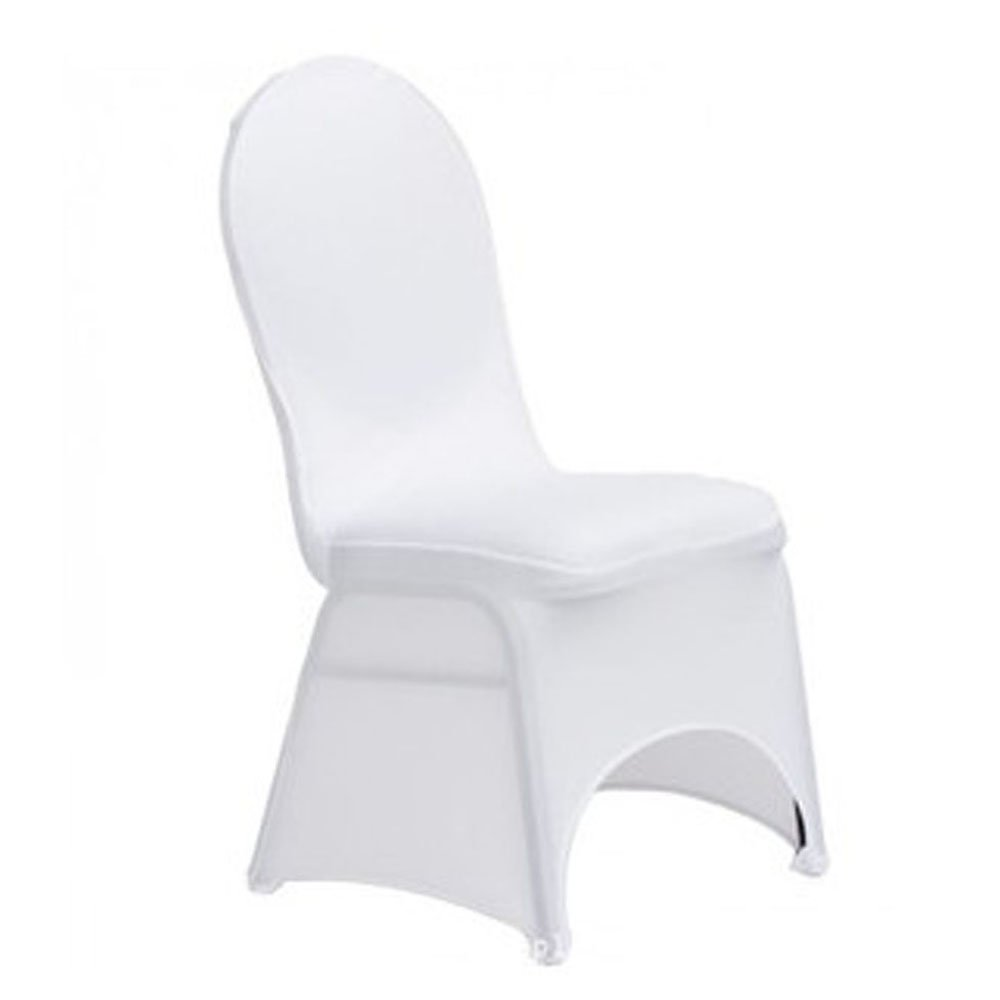 Polyester Spandex Wedding Chair Covers Elastic Face Arch Party Decorations Folding Chair Slipcovers (100pcs, White) by Z ZTDM