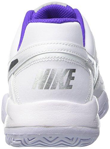 Nike City Court 7 (GS) - Zapatillas de tenis, Niñas Blanco / Plateado / Morado (White / Metallic Silver-Hypr Grp)