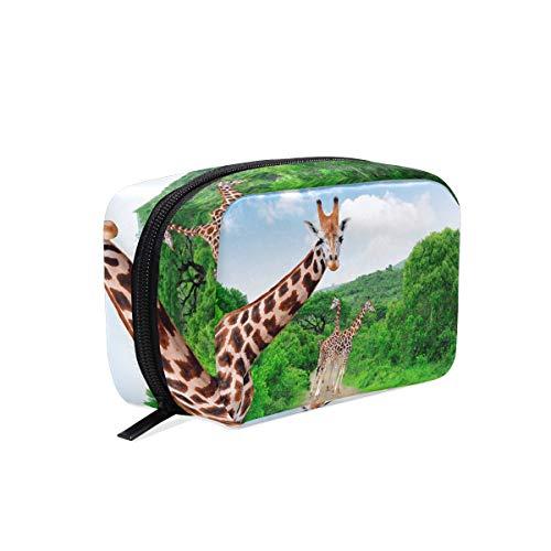 Makeup Organizer Giraffe Summer Womens Zip Toiletry Bag Large Case Cosmetic ()