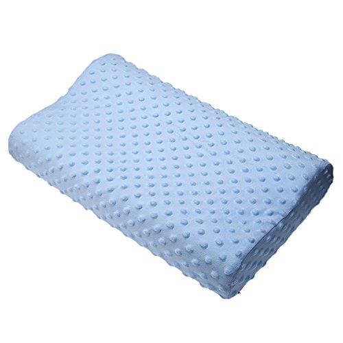 Almohada de contorno de espuma viscoelástica, apoyo ortopédico para el cuello, almohada cervical con funda de algodón para...