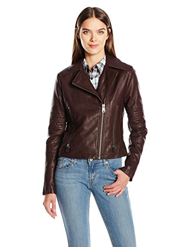 Levis Womens Leather Motorcycle Quilted