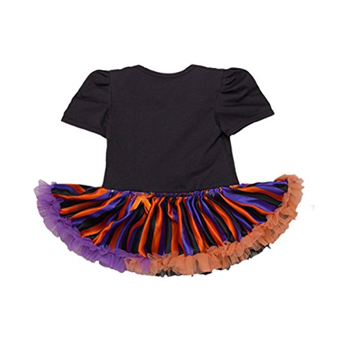 Shoes with Skirt Romper Short Headband Tutu Dress Baby 2 Sleeve Suit Newborn Tulle Lace Halloween Girls' Black Zhhlinyuan PxHpZOqw