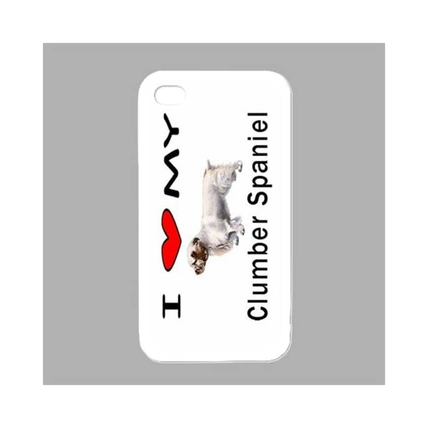 I Love My Clumber Spaniel White Iphone 4 and Iphone 4s Case 1
