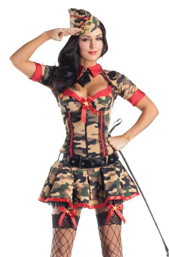 Army Brat Body Shaper Costume - Plus Size 1X - Dress Size 16-18 - Adult Army Brat Plus Size Costumes