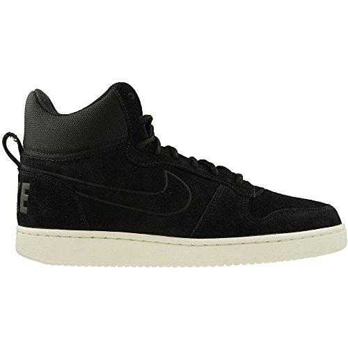 Sneaker Collo Premium Schwarz Mid Court Alto Borough A weiss schwarz Nike Uomo wqYgI4y