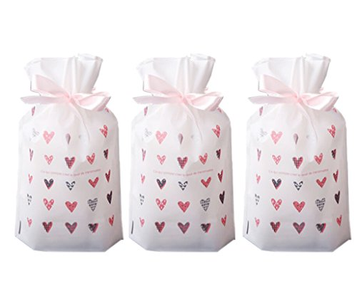 - Funcoo 30 PCs Party Favor Bags, Plastic Drawstring Gift Treat Bag Pouch, Candy Cookie Bag for Wedding Party Bridal Baby Shower Birthday Engagement Christmas Holiday Favor
